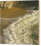 High Angle View Of Waterfall Wood Print