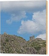 High As The Sky - Blue Sky - Cliffs Wood Print