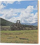 High Country Roundup The Old Days Wood Print