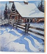 High Country Snow Wood Print