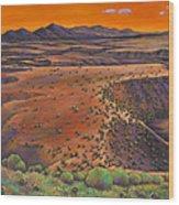 High Desert Evening Wood Print