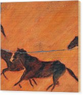 High Desert Horses - Study No. 1 Wood Print