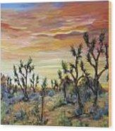 High Desert Joshua Trees Wood Print