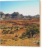High Desert View Wood Print