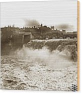 High Falls On The Genesee River Rochester New York At Flood Stage Circa 1904 Wood Print