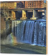 High Falls Rainbow Wood Print