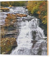 High Falls Wood Print by Scott Norris