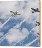 High Flying Five Wood Print