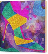 High Heels On Ropes Wood Print
