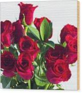 High Key Red Roses Wood Print