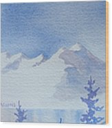 High Lake Wood Print