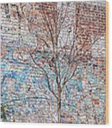 High Line Palimpsest Wood Print