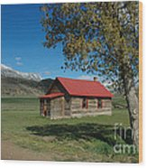 High Lonesome Ranch Wood Print