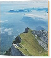 High On Nature At Mt. Pilatus Wood Print