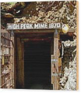 High Peak Mine Wood Print