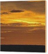 High Plains Sundown Wood Print