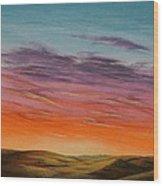 High Plains Sunset Wood Print