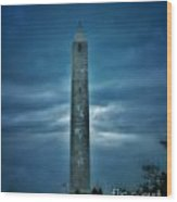 High Point Monument Wood Print