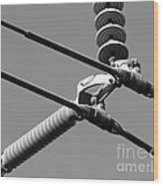 High Power Lines - 1 Wood Print