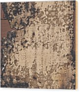 High Resolution Burnt Primed Burlap Wood Print