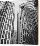 High Rise Building In The Financial Center Of Hong Kong Wood Print