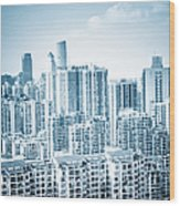 High Rise Residential Area Wood Print