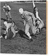 High School Football, 1941 Wood Print