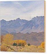 High Sierra Autumn Wood Print
