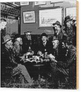 High Stakes Poker - 1913 Wood Print
