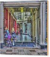 High Street Arcade Cardiff Wood Print