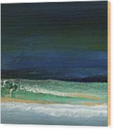 High Tide- Abstract Beachscape Painting Wood Print