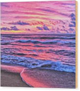 High Tide At San Onofre Wood Print