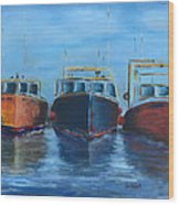 High Tide Breton Harbor Wood Print
