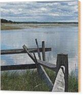 High Tide Lieutenant Island Marsh Wood Print