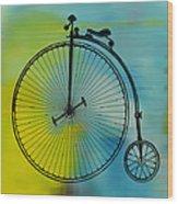 High Wheel Bicycle Wood Print