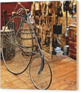 High Wheel 'penny-farthing' Bike Wood Print by Christine Till