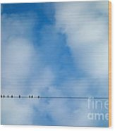 High Wire Act Wood Print