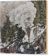 Highball Through Cascade Canyon Wood Print