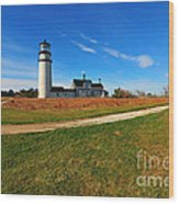 Highland Point Light Wood Print by Catherine Reusch Daley