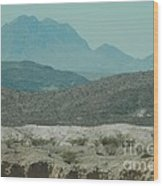 High And Low Mountain Layers Wood Print