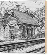 Highlands Train Station Wood Print