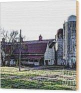 Highway 11 Barn Wood Print