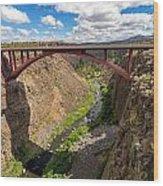 Highway 97 Bridge Wood Print