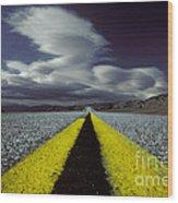 Highway Through Death Valley Wood Print