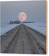 Highway To The Moon Wood Print
