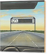Highway Wood Print