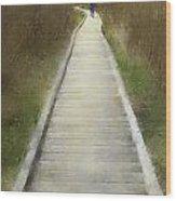 Hikers On Appalachian Trail Wood Print