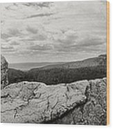 Hikers Standing On The Rocks, Gertrudes Wood Print
