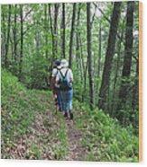 Hiking Group Wood Print