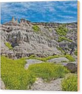 Hiking In The Badlands Wood Print